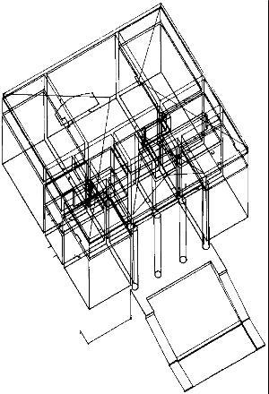 Villa emo vedelago for Architektur axonometrie