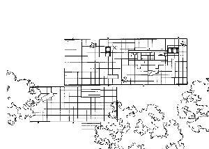 Edith Farnsworth House Plano