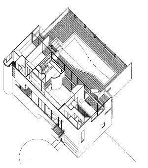 Villa haupt for Architektur axonometrie