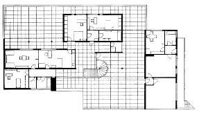 00004662 Tugendhat House Floor Plan Diions on
