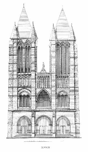 Front Elevation In Architecture : Kathedrale notre dame noyon
