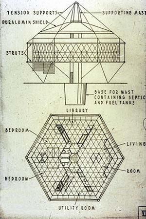 Dymaxion fertighaus dearborn for Dymaxion house plans