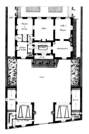 projet d 39 h tel particulier. Black Bedroom Furniture Sets. Home Design Ideas