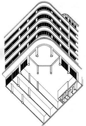 Edificio oberpaur santiago de chile for Architektur axonometrie